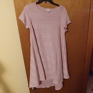 LuLaRoe Carly (S) - Textured Pink